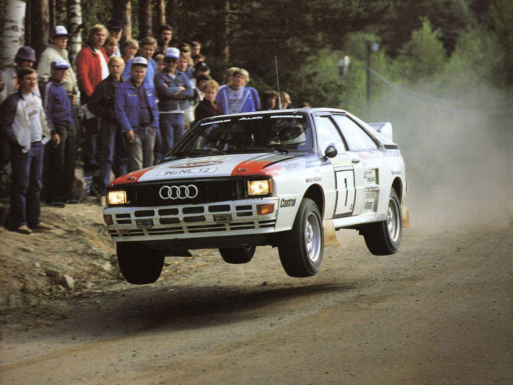 Rally izvedba Audija Quattro prve generacije.