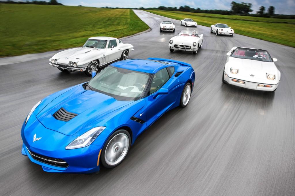 Svih sedam generacija Corvette.