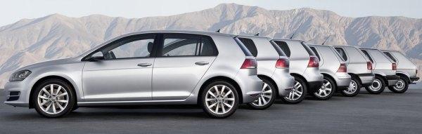 Svih sedam generacija automobila po kojem je nazvana cijela jedna klasa