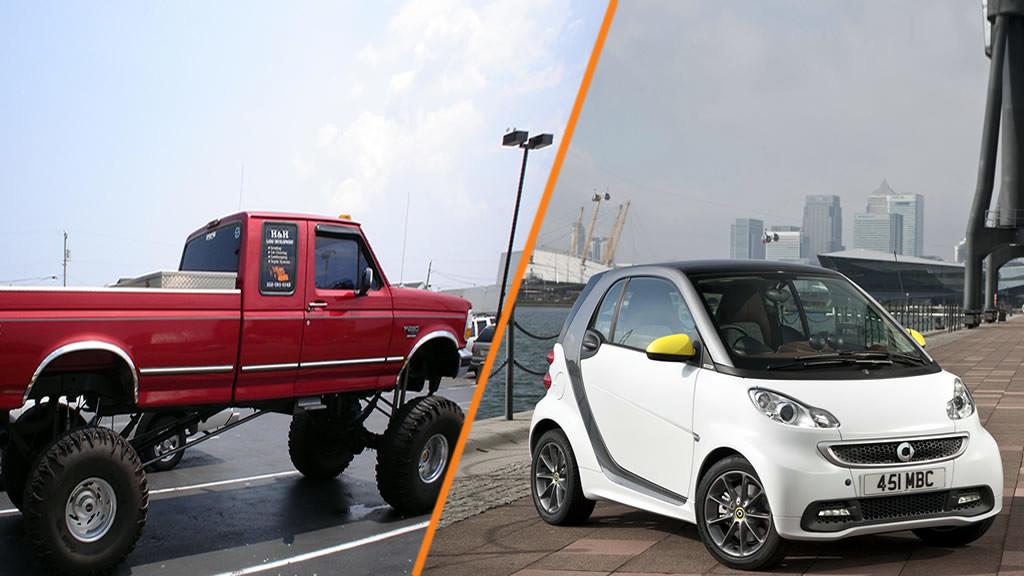 mali ili veliki auto
