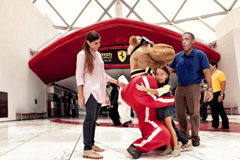 Ovako je izgledao dio posjeta Ferrarijevom hramu u Abu Dhabiju.