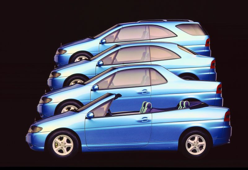 Ovo je ukratko ideja koja podrazumijeva četiri oblika istog automobila.