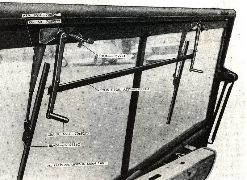 Ručni brisači, na primjeru Jeep Willysa