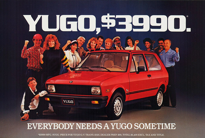 Yugo - or you not go!