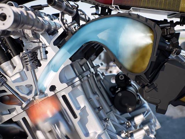 Prikaz smjese unutar cilindra