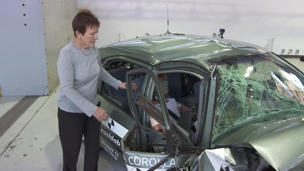 Kabina stare Corolle u potpunosti se deformirala